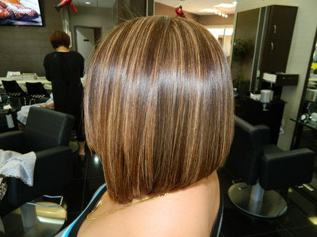 Short Haircut Graduated A Line Bob Pictures to pin on Pinterest