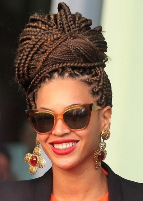 Wonderful Twists Braids With Roll Hairstyle Side