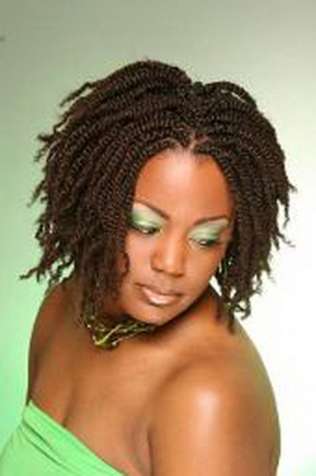 New Braids And Twists Hairstyle With A Rolled Bun  Front  Thirstyroots