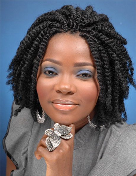 Crochet Hair Styles In Nigeria : Kinky Twist With Marley Hair Crochet Braids Short Hairstyle 2013