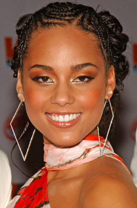 Alicia Keys Braids Hairstyles