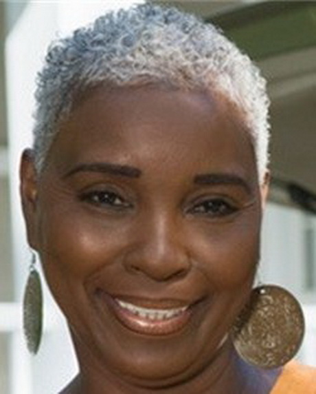 Short Hairstyles for Black Women with Natural Gray Hair