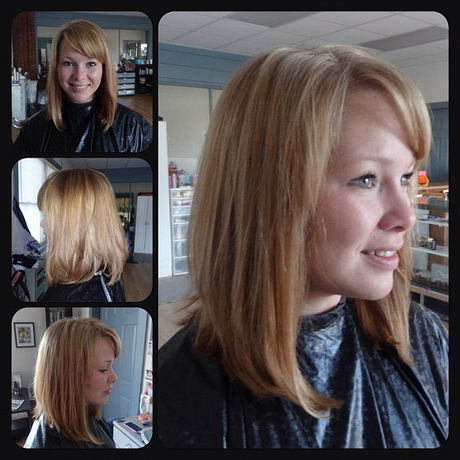Angled medium haircuts for A classic salon greer sc