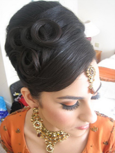 Asian bridal hair style
