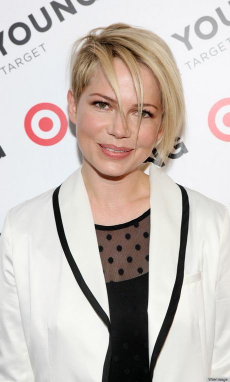 Michelle Williams Asymmetrical Haircut