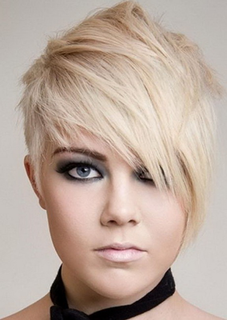 ... Trendy and cool asymmetrical short blonde hair. trendy-short-haircuts