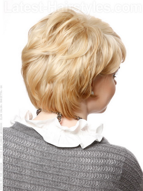 ... short straight haircut back view short hairstyles women over 50 fine