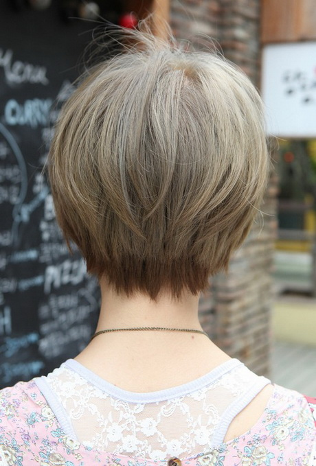 back view of short haircuts older women