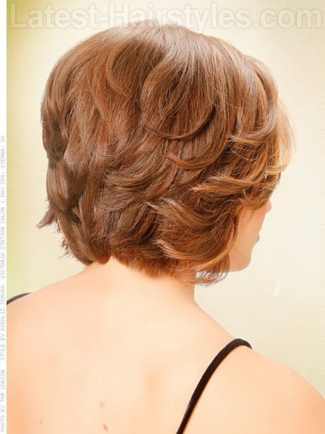 Short hairstyles for women back of head view