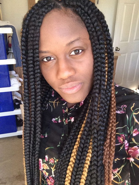 layered sew in weave hairstyles : Big braids hairstyles