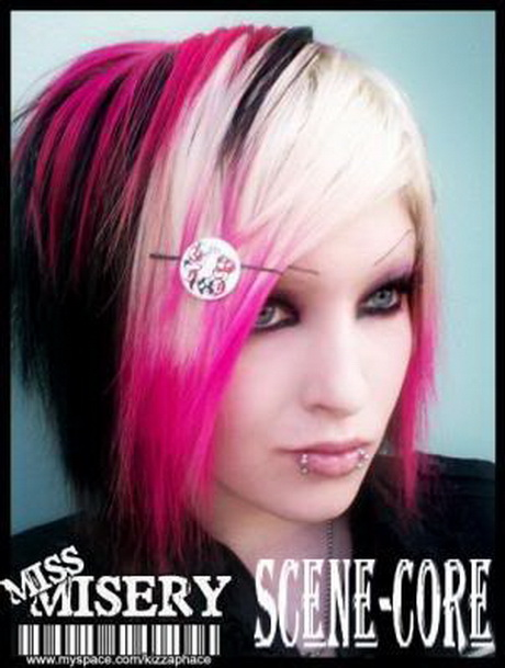 Black and pink hairstyles
