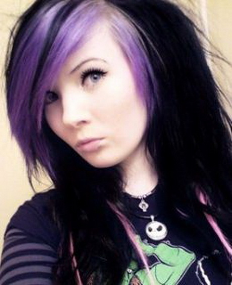 black and purple hairstyles