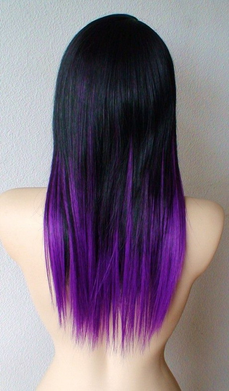 Hairstyles Purple : Red And Purple Ombre Hair Emelni Cromatika Long Hairstyle ideas