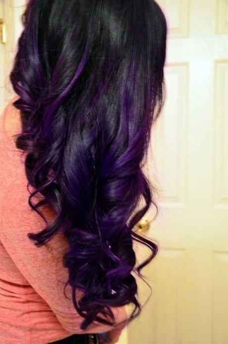 Hairstyles Purple : Purple and black hairstyles. Via Elma Kastning