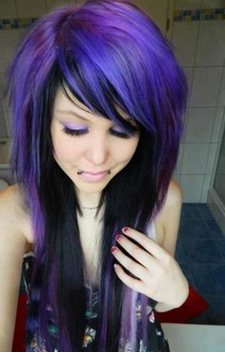 Hairstyles Purple : more purple and black hairstyles different black hairstyles black pin