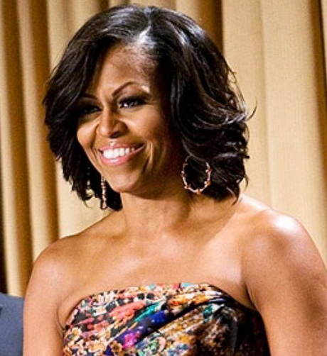 Michelle Obama Hairstyles: Feathered Flip Hairstyle. In addition you ...