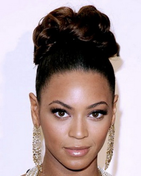 ... chignon (bun) black hair updos like the one Beyonce is wearing in