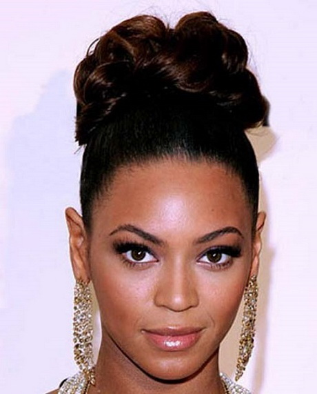updo hairstyles for black women can be obtained by adding black hair