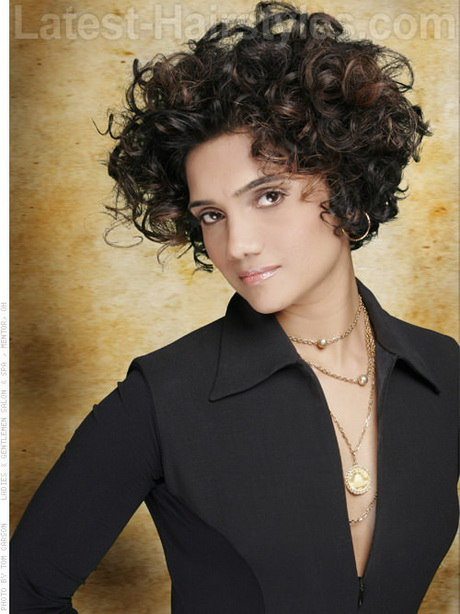 Short Curly Hairstyle with Volume Pin It