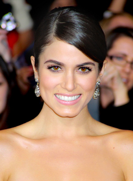 Nikki Reed's Black Chic Sophisticated Updo Hairstyle is an easy ...