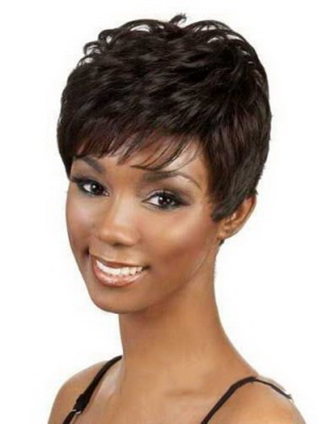 short wavy brown side bang african american lace wigs short