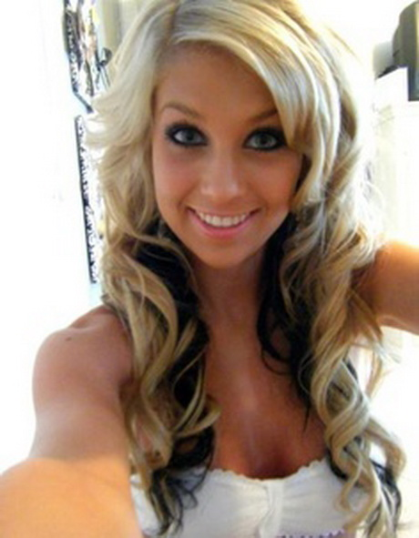 Blonde with black underneath hairstyles