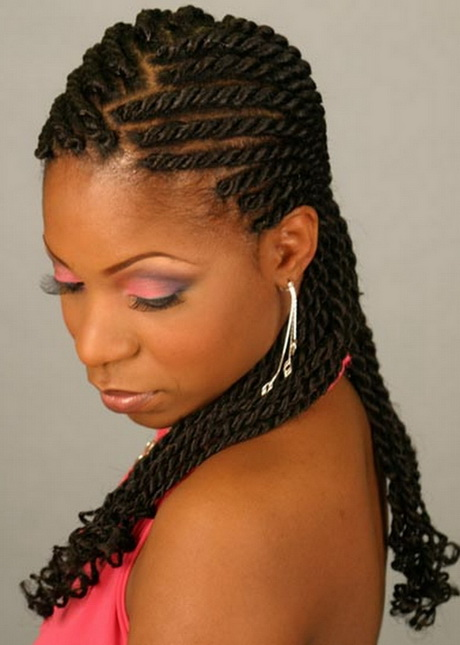 fringe bangs hairstyles : Braided hairstyles for african americans