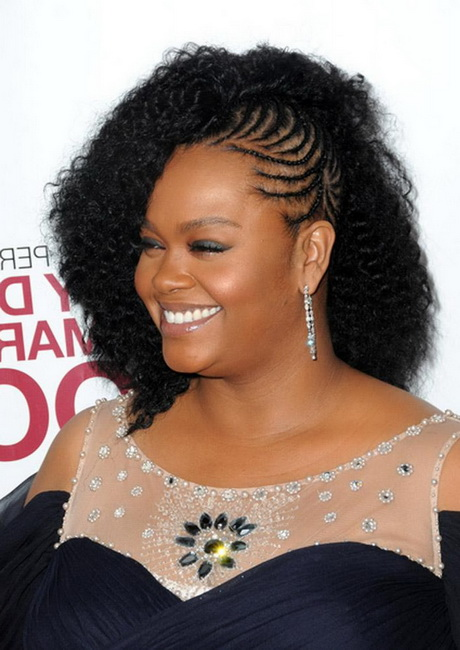 Braided mohawk hairstyles for black women with weave