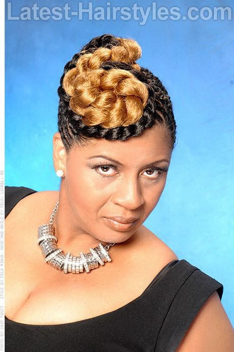 Braided hairstyles with weave