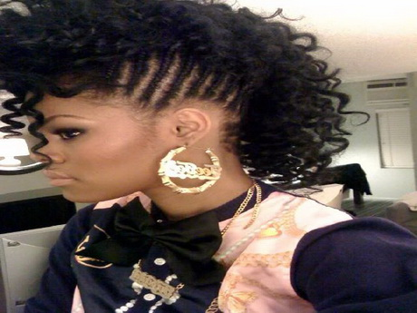 Image Black Girls Braided Mohawk Hairstyles Download