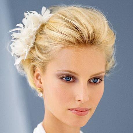 bridal hair for short hair
