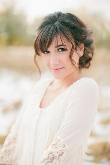 Wedding Hairstyles For Medium Hair With Bangs : Bridal hairstyles with bangs