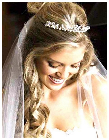 Bridal Hairstyles With Veil And Tiara