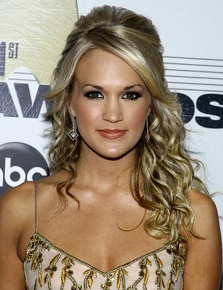 casual half up half down hairstyles : Carrie underwood hairstyles