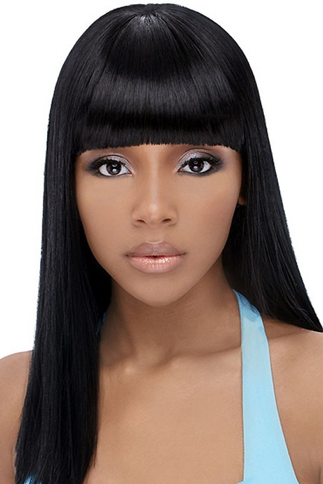 Chinese Bangs Black Hairstyle