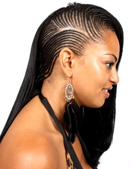 Crochet Braids On One Side : ... head and never have to cut or shave off hair. Cornrow Braid Hairstyles