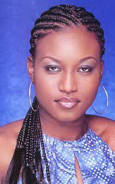 Black Women Cornrow Braid Styles