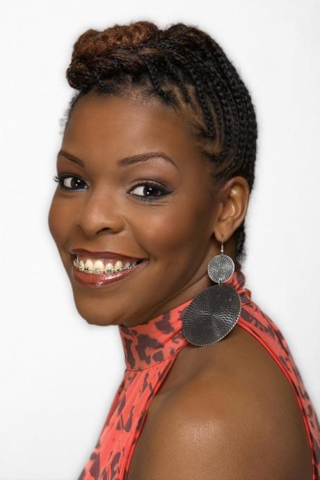 black flower girl hairstyles : Cornrow Updo Hairstyles For Black Women Vfxxusts