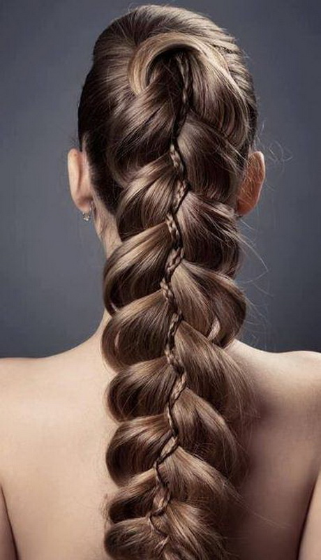 Creative braid hairsty...