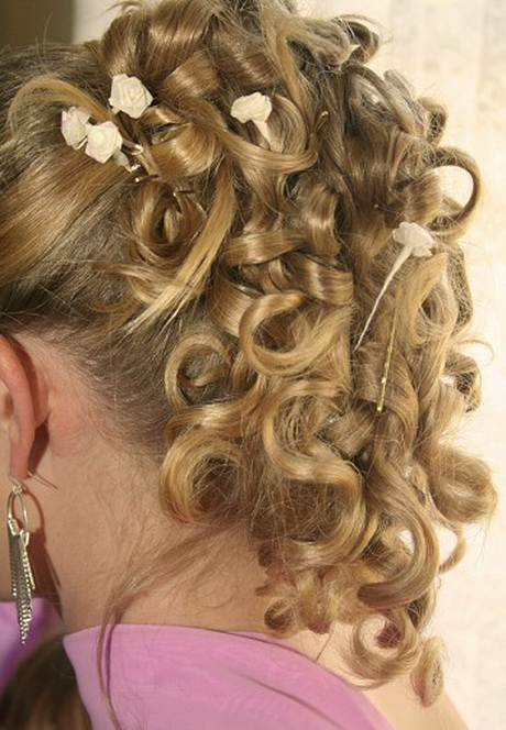 Curly Bridesmaid Hairstyle Wedding Hair Hair Styles. Curly Bridesmaid ...