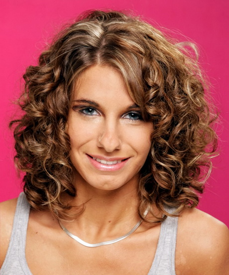Curly medium length hairstyles 2015
