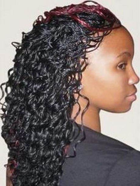 Curly Micro Braids Hairstyles