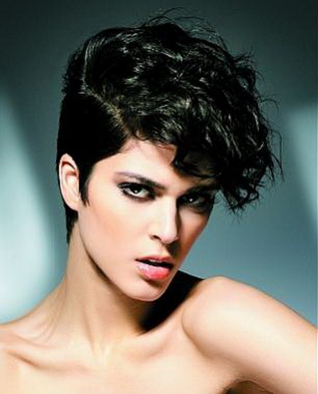 Curly Pixie Cut Hairstyle