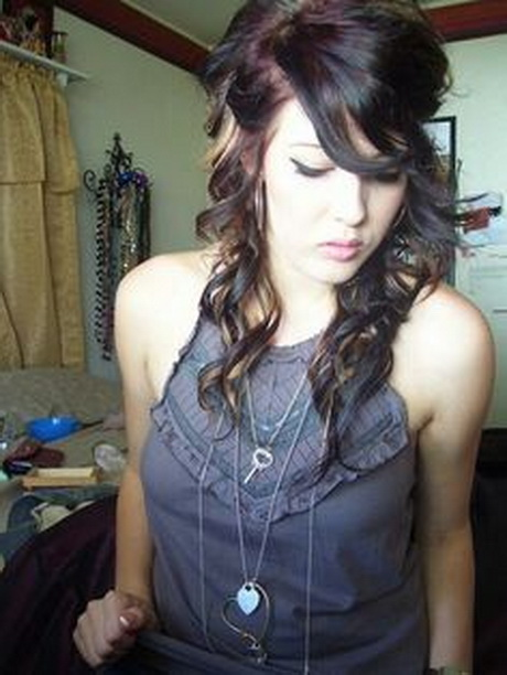curly scene hairstyles