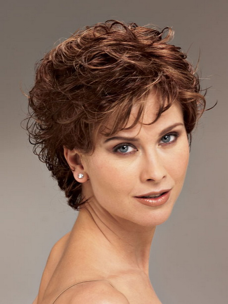 Hairstyle Short Curly Hair Women Over 40