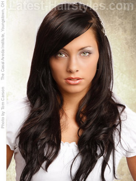 Hairstyles For Long Hair Long Bangs : Different Cute Hairstyles for Long Thick Curly Hair ?