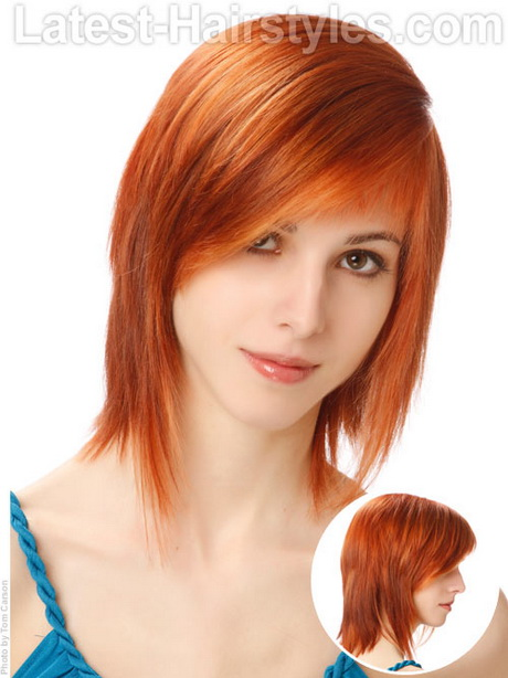 Cute Hairstyles For Shoulder Length Hair With Side Bangs And Layers : Cute layered haircuts for medium hair