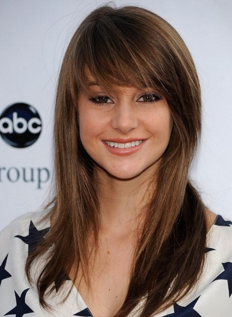 Long Haircuts with Bangs and Layers different types of hairstylesWomen ...