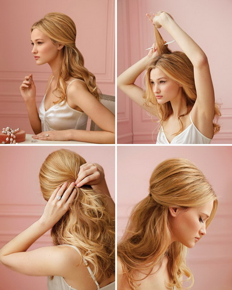 Model Wedding Hairstyles For Long Curly Hair Half Up Ideas
