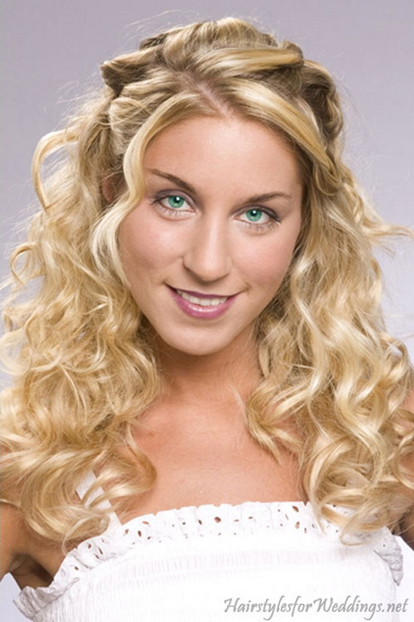 down curly hairstyles for weddings. Black Bedroom Furniture Sets. Home Design Ideas